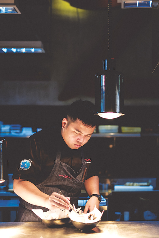 Head chef Keith Fresnido worked at Vask before taking Arrozeria.