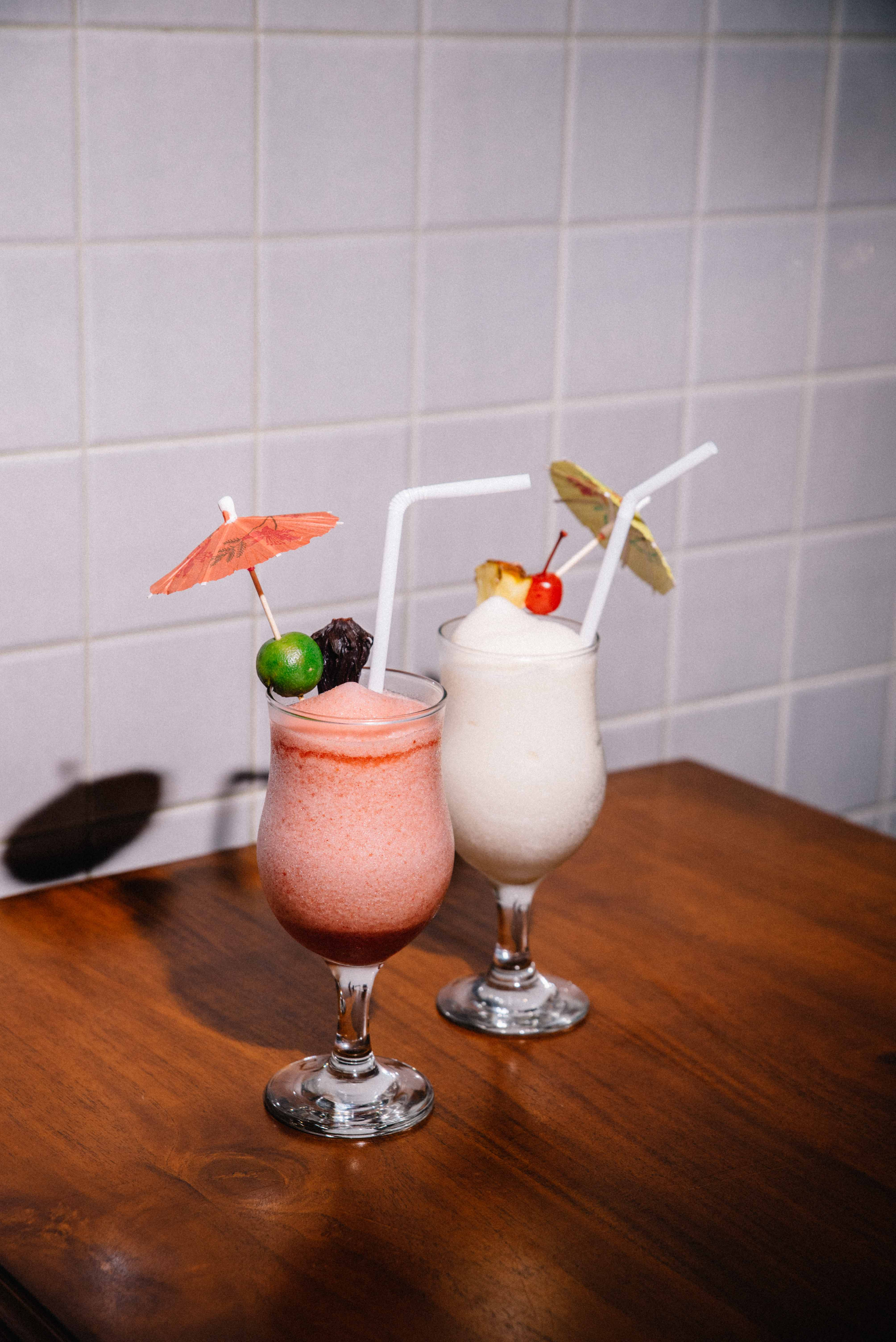 These drinks strike a cool contrast to FowlBread's spicy chicken.