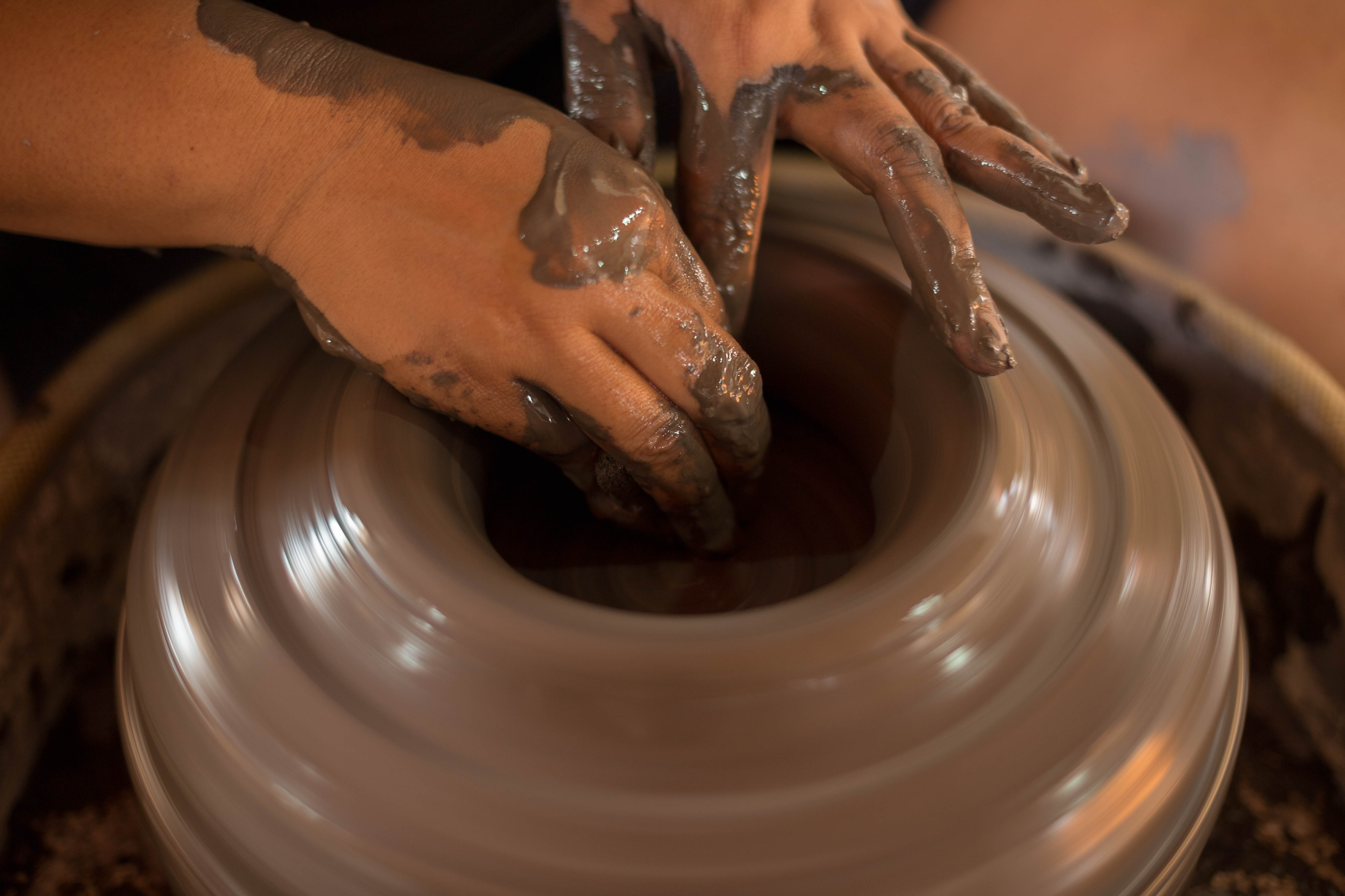 """As soon as I felt the spinning clay between my hands, I knew I wanted more of it."""