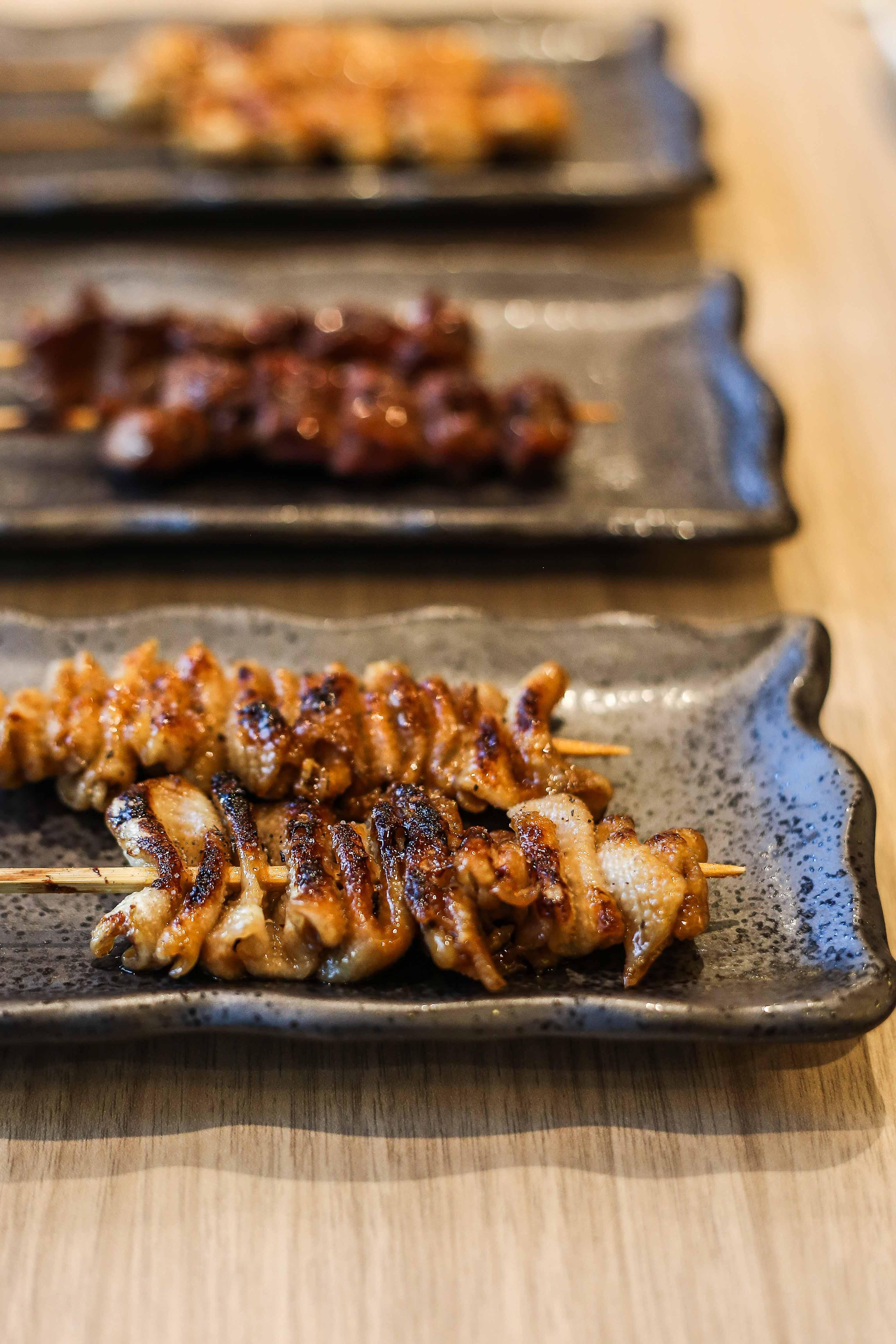 Yakitori chicken skin