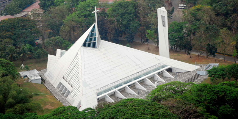 Aerial view of the Church of the Gesu. Photo courtesy of Ateneo.edu.