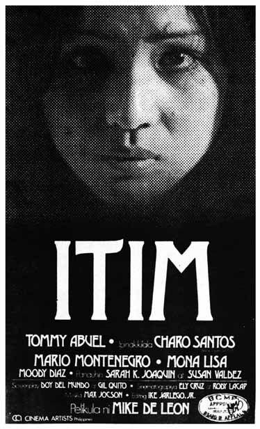 The official poster of Mike de Leon's Itim