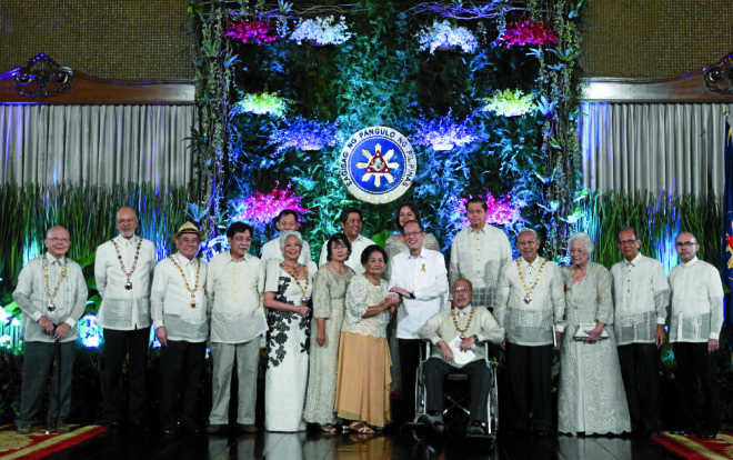 The most recent set of national artists were recognized in 2016. Photo courtesy of Inquirer.net/
