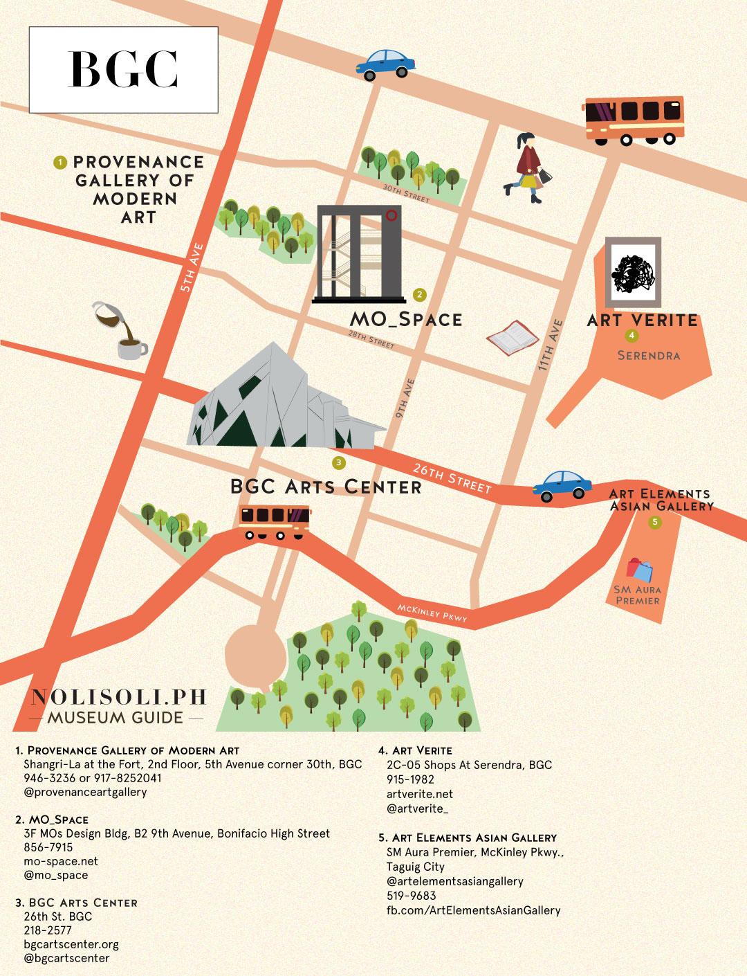 nolisoli museum art gallery map bgc