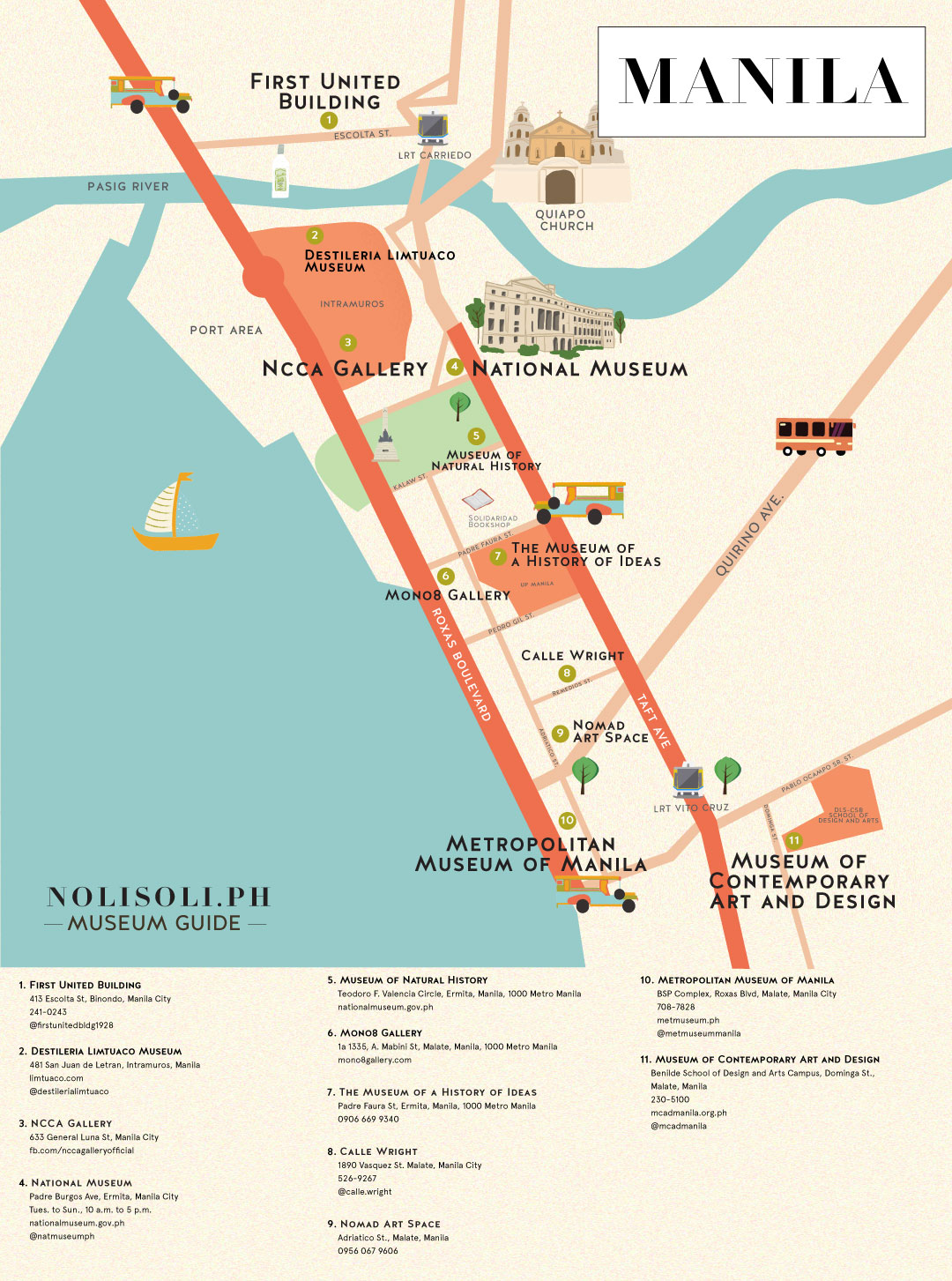 nolisoli museum art gallery map manila