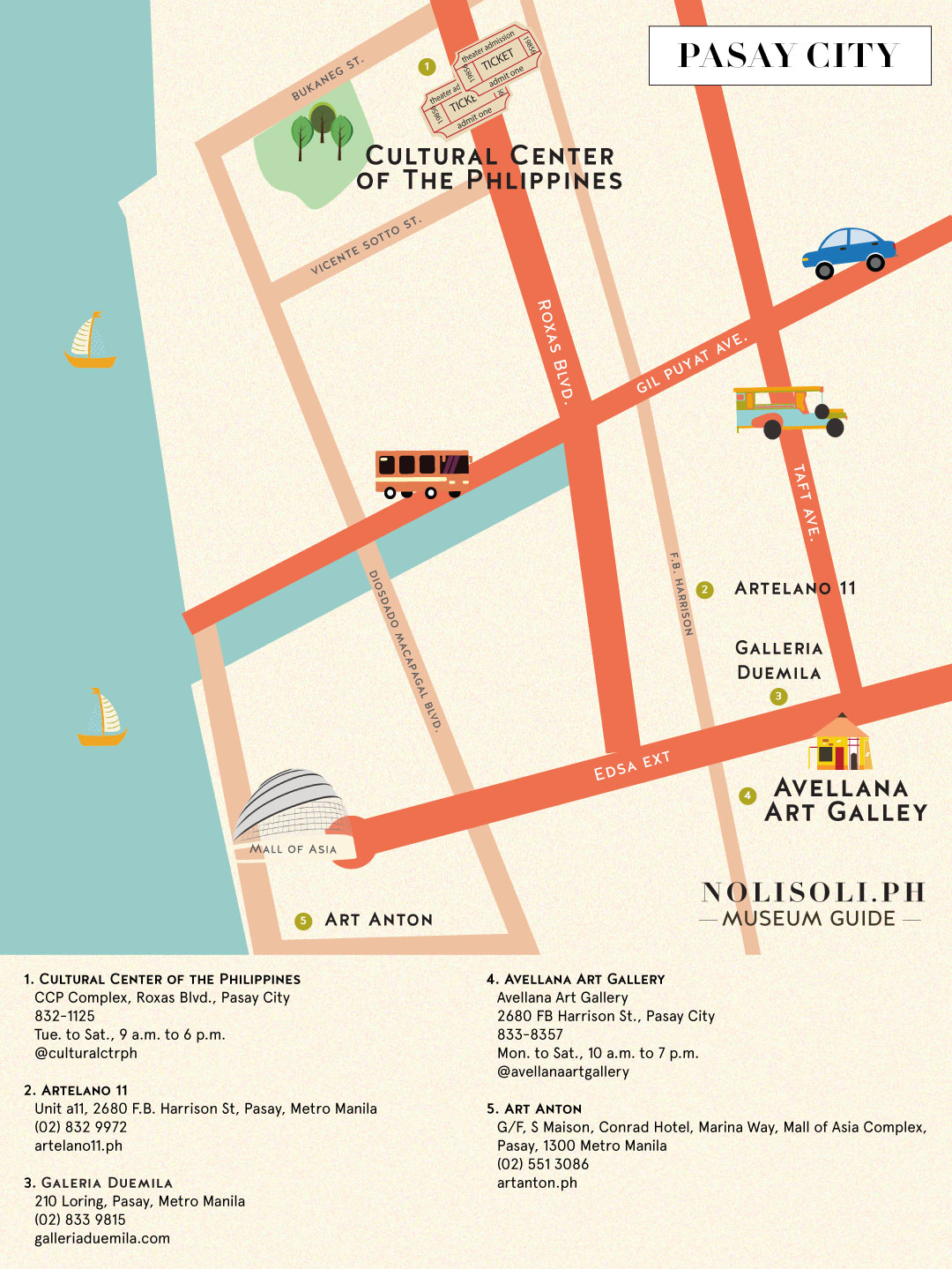 nolisoli museum art gallery map pasay