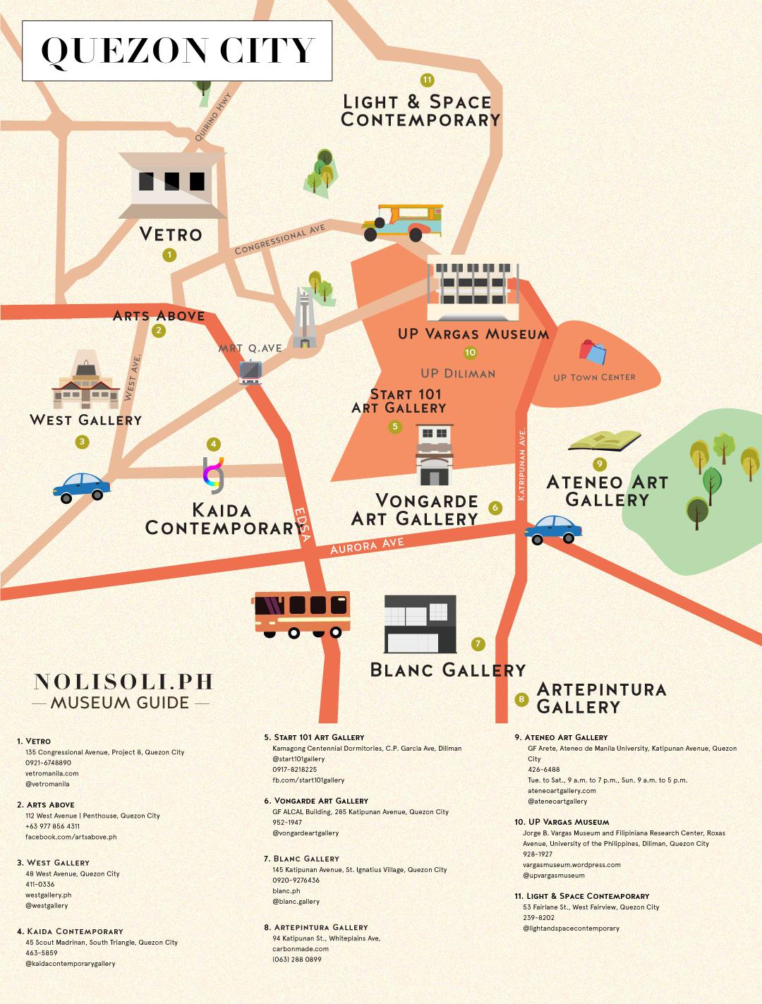 nolisoli museum art gallery map quezon city