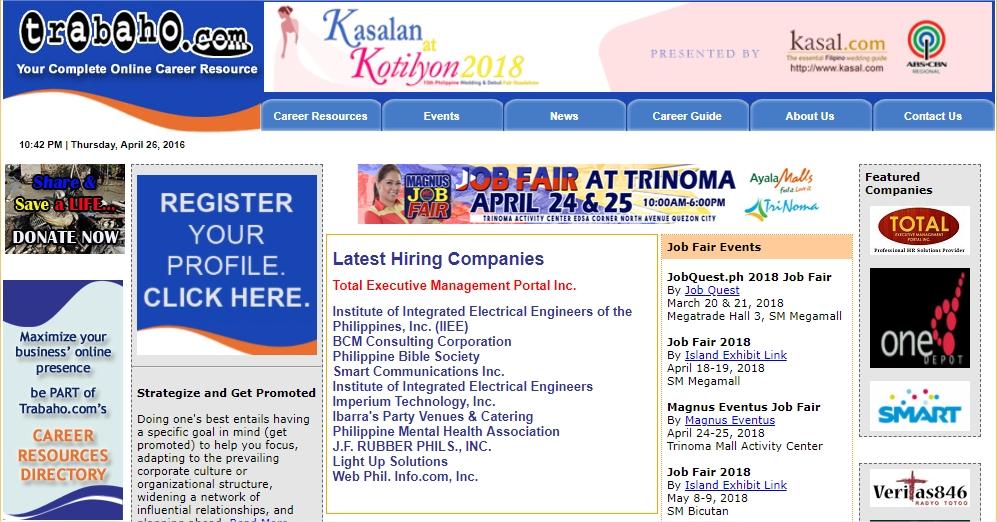 job hunting websites