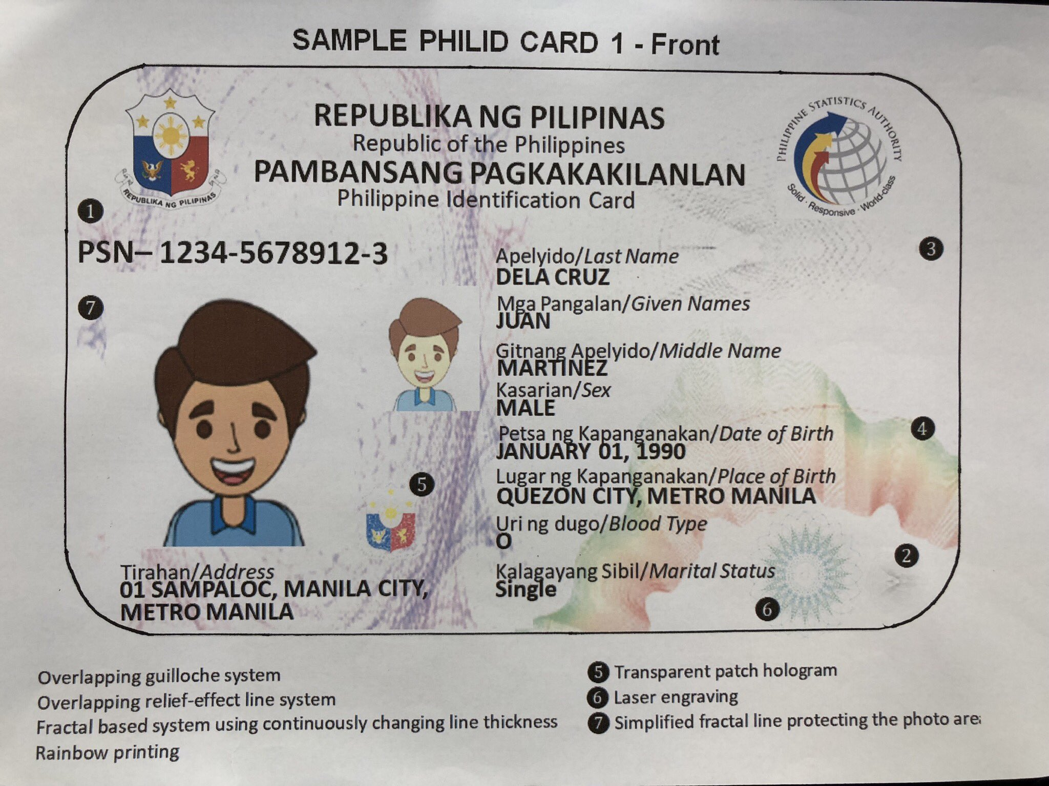 LOOK: the first sample of the new PhilSys ID - NOLISOLI