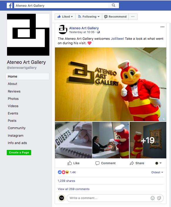 LOOK: Netizens react to Jollibee's Ateneo Art Gallery visit - NOLISOLI
