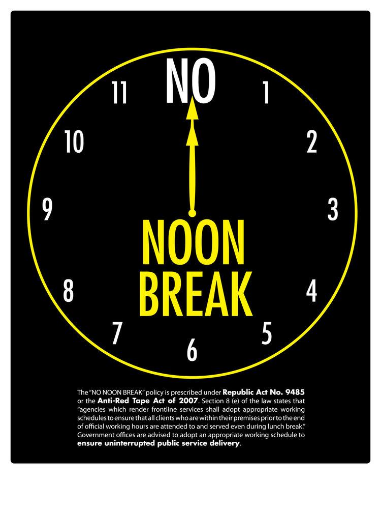 no noon break policy