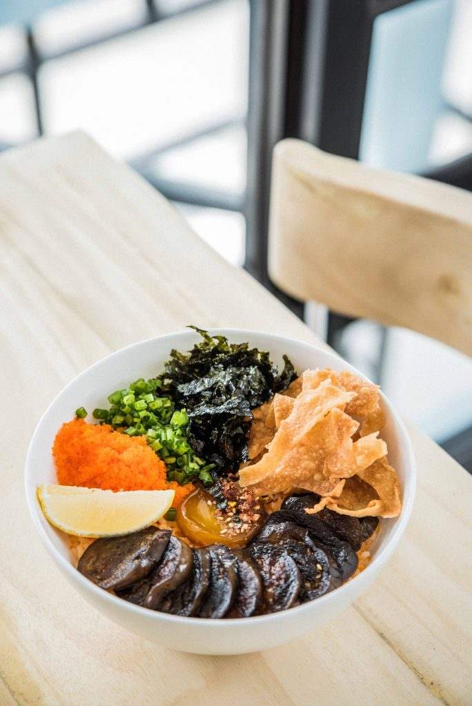 Nolisoli Kale Manila eggplant donburi menu food brunch