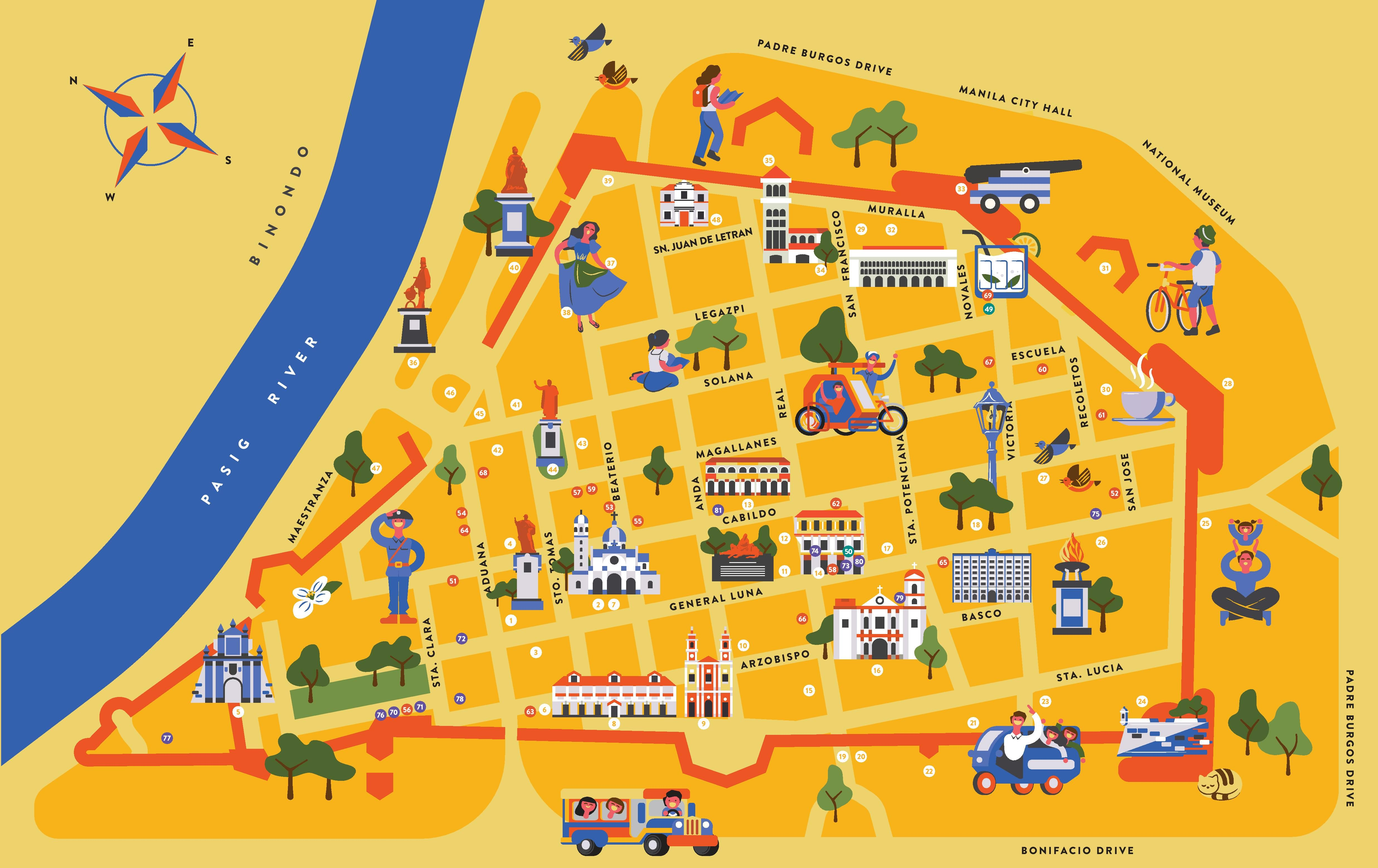 Elite San Jose >> Take a DIY tour of Intramuros with the help of these free colorful maps - NOLISOLI
