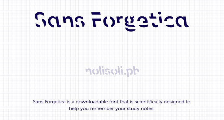 nolisoli.ph sans forgetica font memory retention