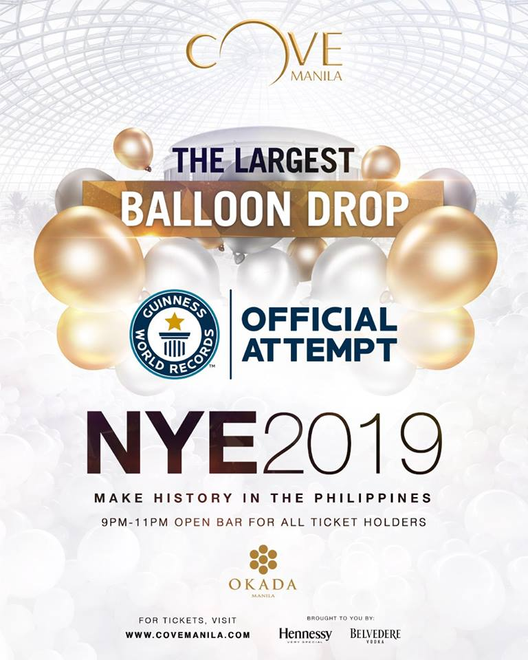 cove manila balloon drop