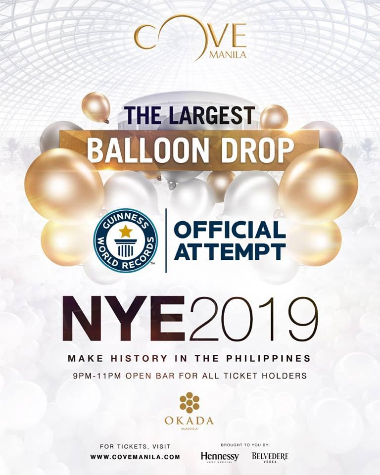 cove manila balloon drop