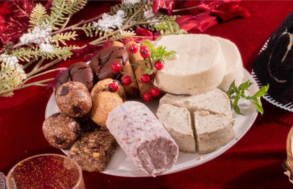nolisoli alternative noche buena spread roast turkey healthy vegan cheese sausages inanutshell