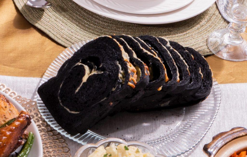 nolisoli alternative noche buena spread cheesy charcoal bread hearty bread