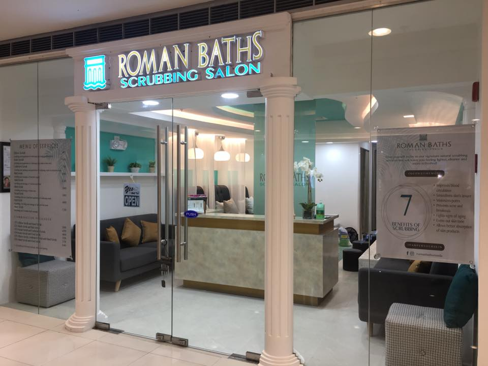 roman baths scrubbing salon