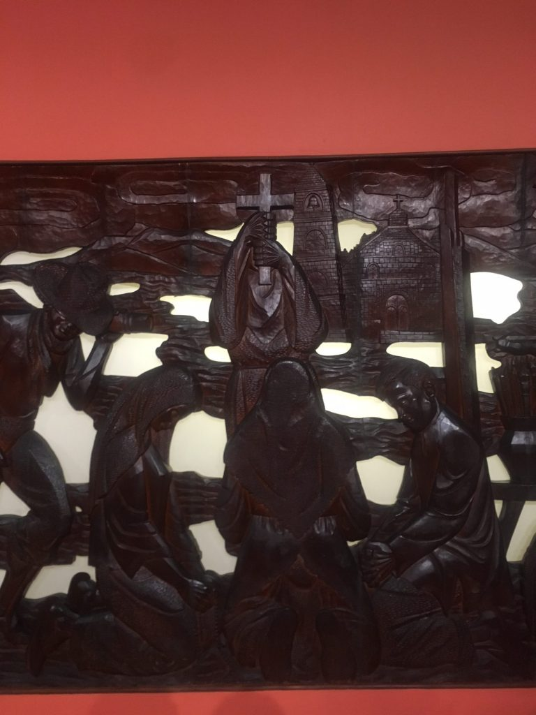 National Museum now displays Jose P  Alcantara's 50-feet relief
