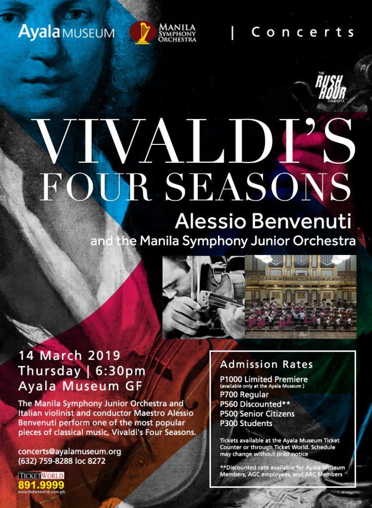 vivaldi four seasons ayala museum rush hour concert
