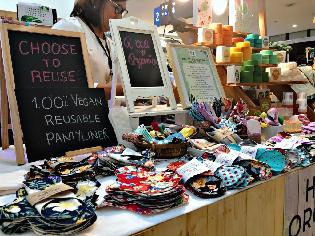 happy organics, reusable pantyliners, pasig handcrafted products