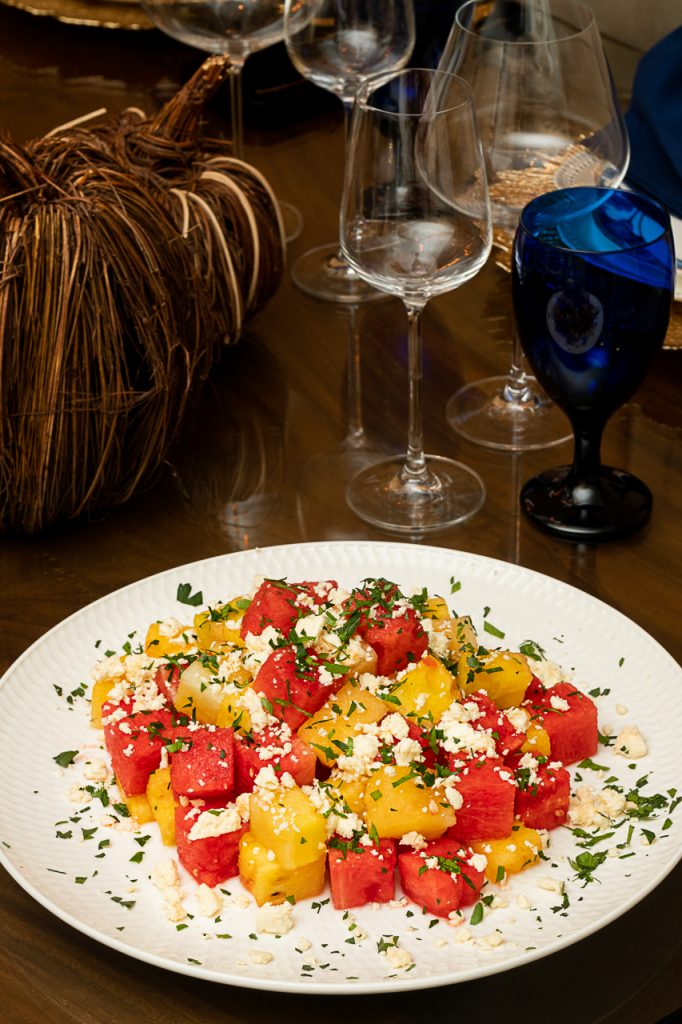 simple watermelon salad, the test kitchen by spoonsofmagic, private dining