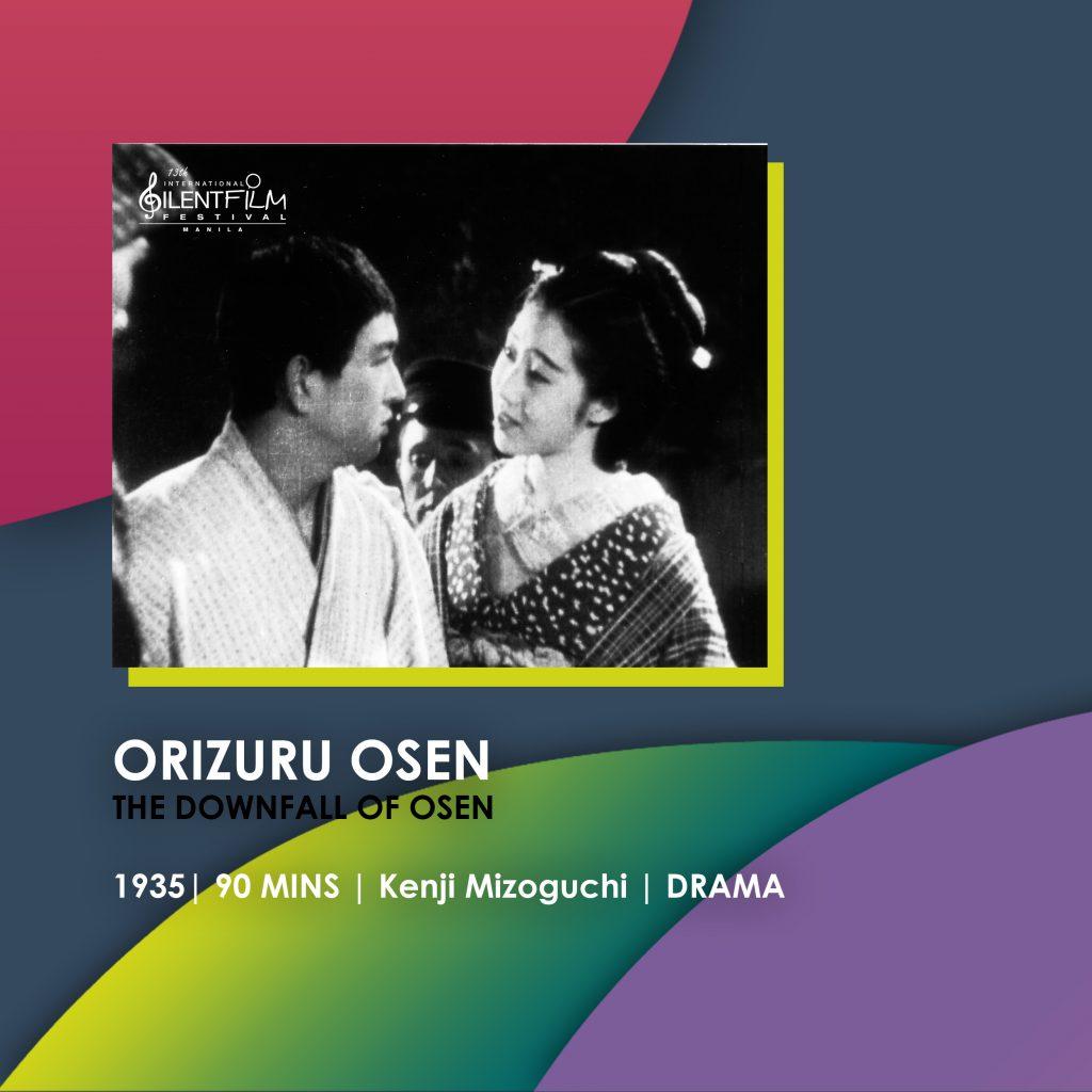 orizuru osen, 13th international silent film festival manila