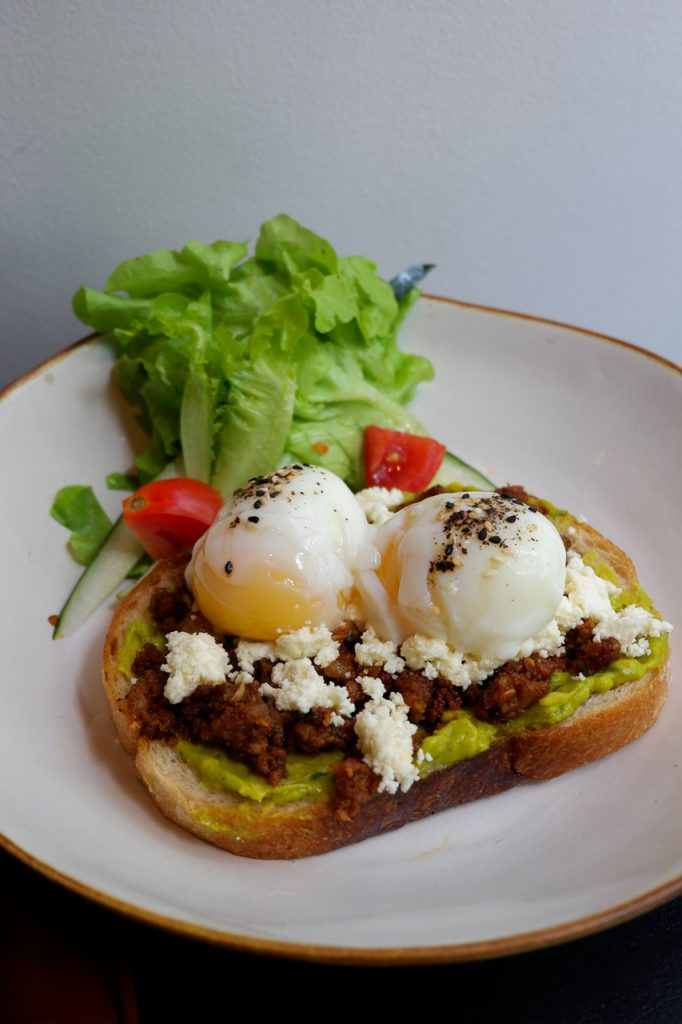 avocado toast chorizo