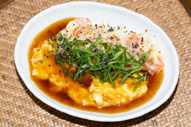 Tokyo Milk Cheese Factory Cafe's Salmon Teriyaki Gratin