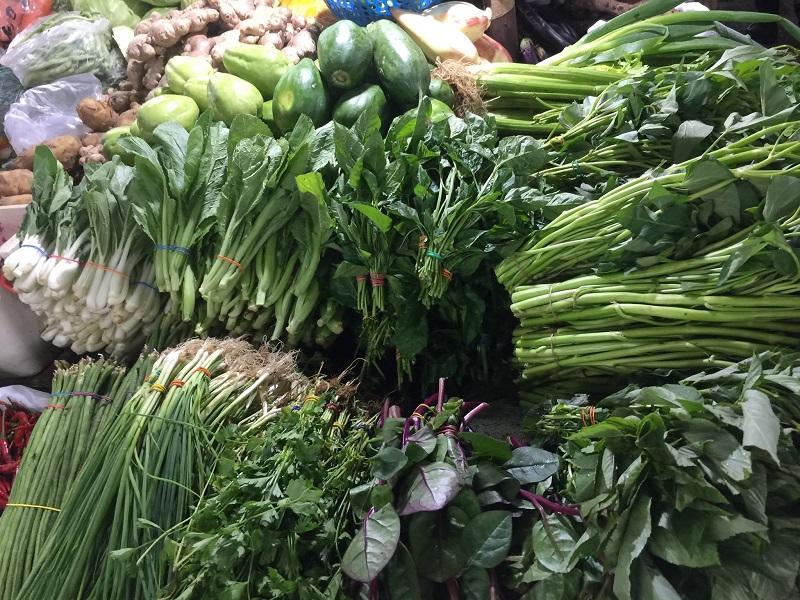 vegetable kangkong alugbati palengke market