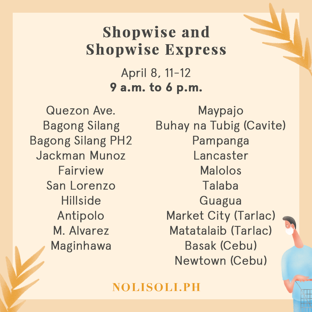 grocery holy week 2020